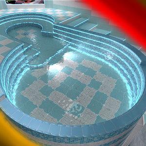 3d model pool spa