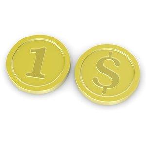 3ds max cartoon coin