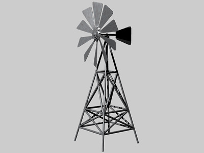3d model of windmill propellers