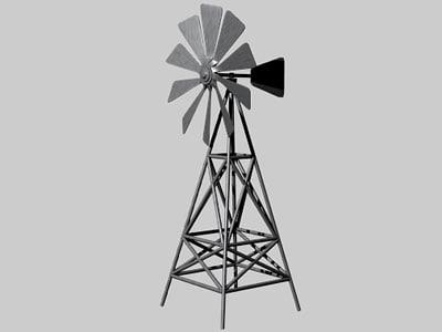 3d model of windmill propellers