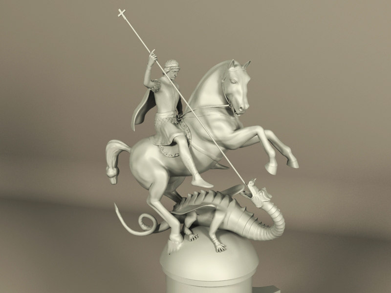 sculpture george 3d model