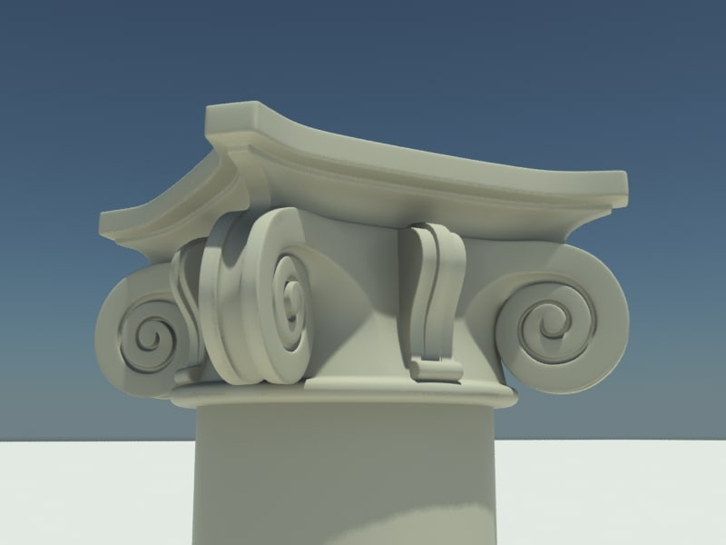 3d model of architectural capitel