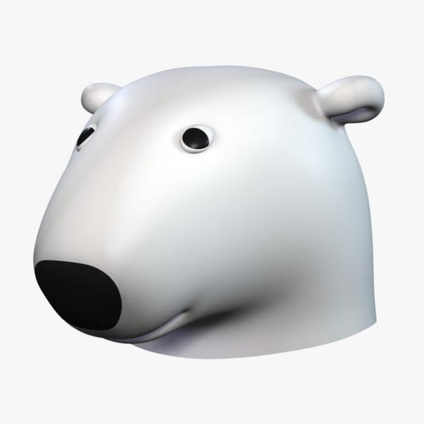 coca cola polar bear obj