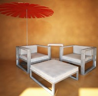 Gandia Blasco Outdoor Armchairs and table-pouf Na Xemena