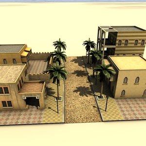 3d arab city houses model