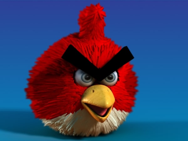3d model character angry birds