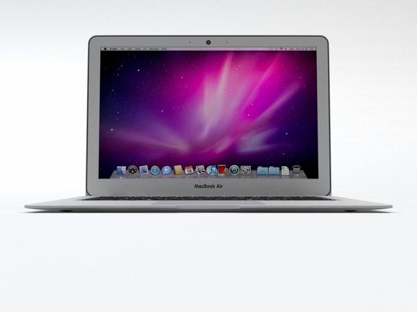 apple macbook air 2010 3d model