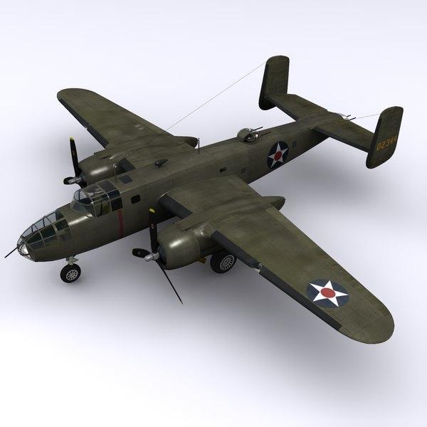 north american b-25 mitchell 3d max