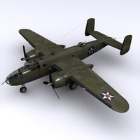 north american b-25 mitchell 3d max