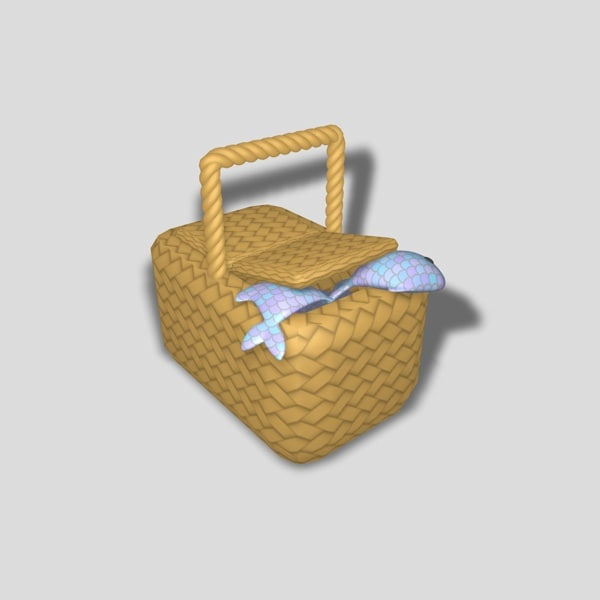 3d model basket fish