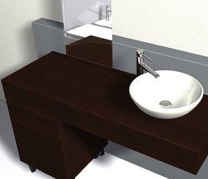 bathroom scene 3d obj