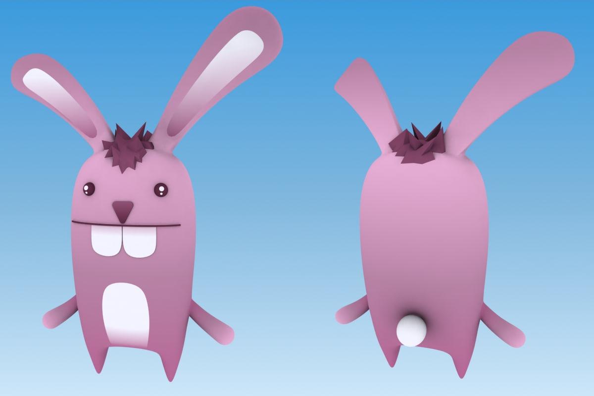 cartoon rabbit 3d max