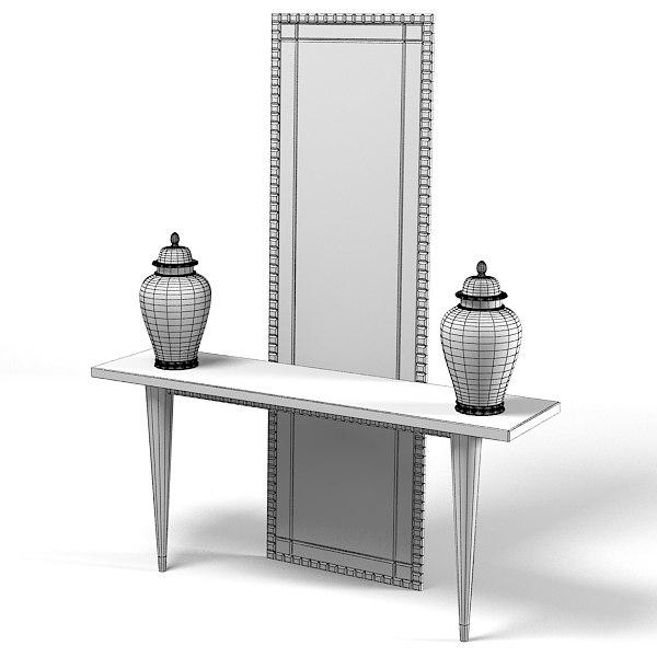 casali art deco console table mirror