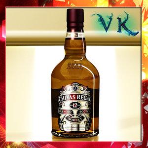 max photorealistic liquor bottle chivas