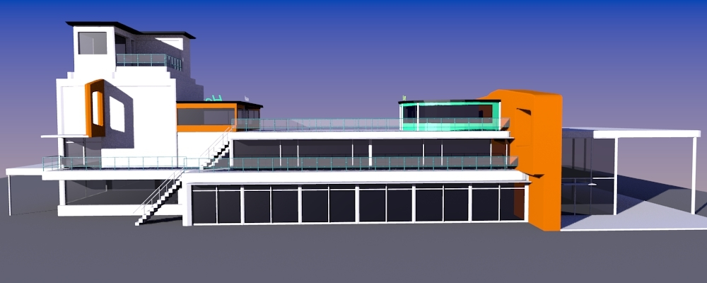free 3ds model hotel building