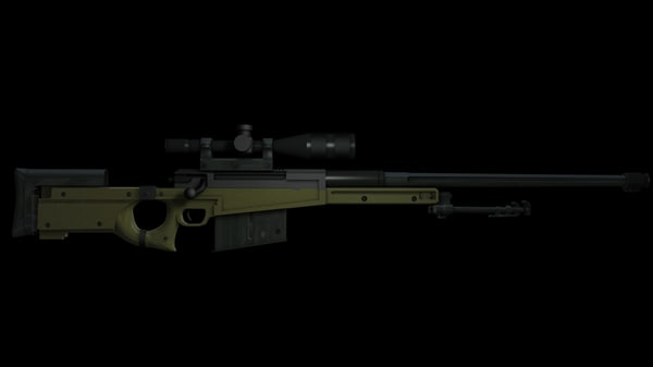 3d model l96 aw sniper rifle