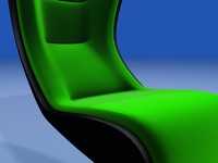 3d model contemporary lounge recliner