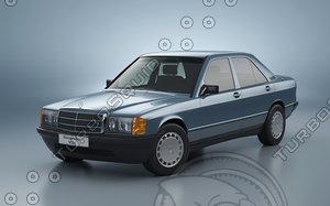 3d model mercedes-benz 190 w201
