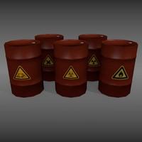 3d metal barrels