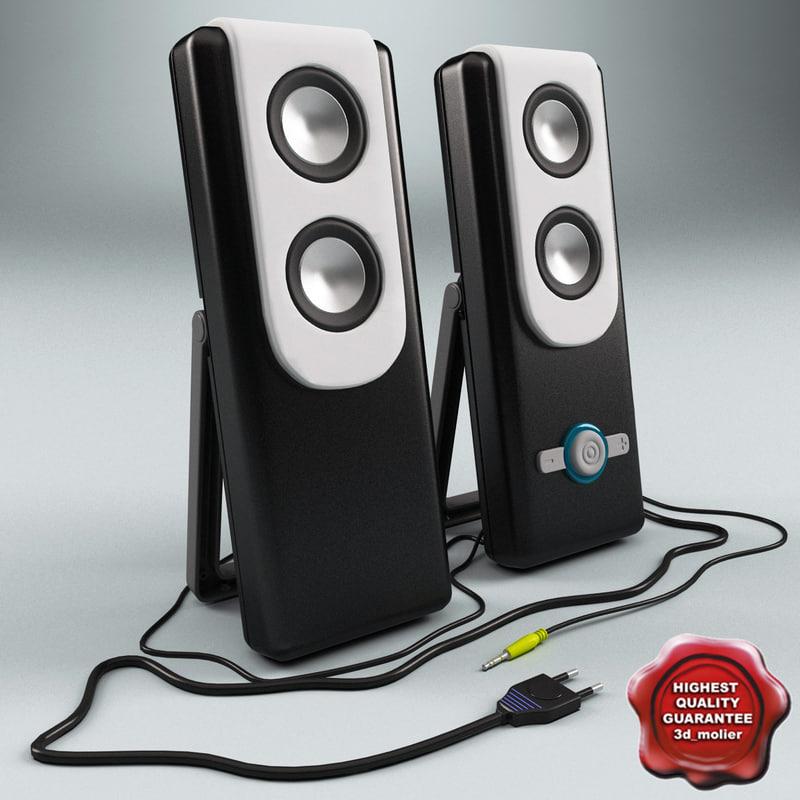 pc speaker genius sp 3d model