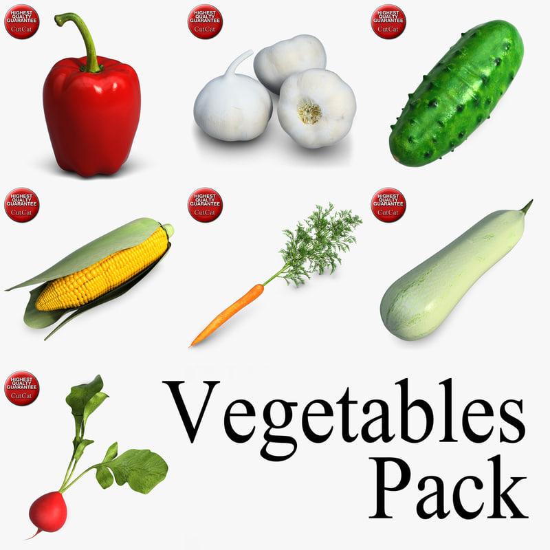 vegetables pack 3ds