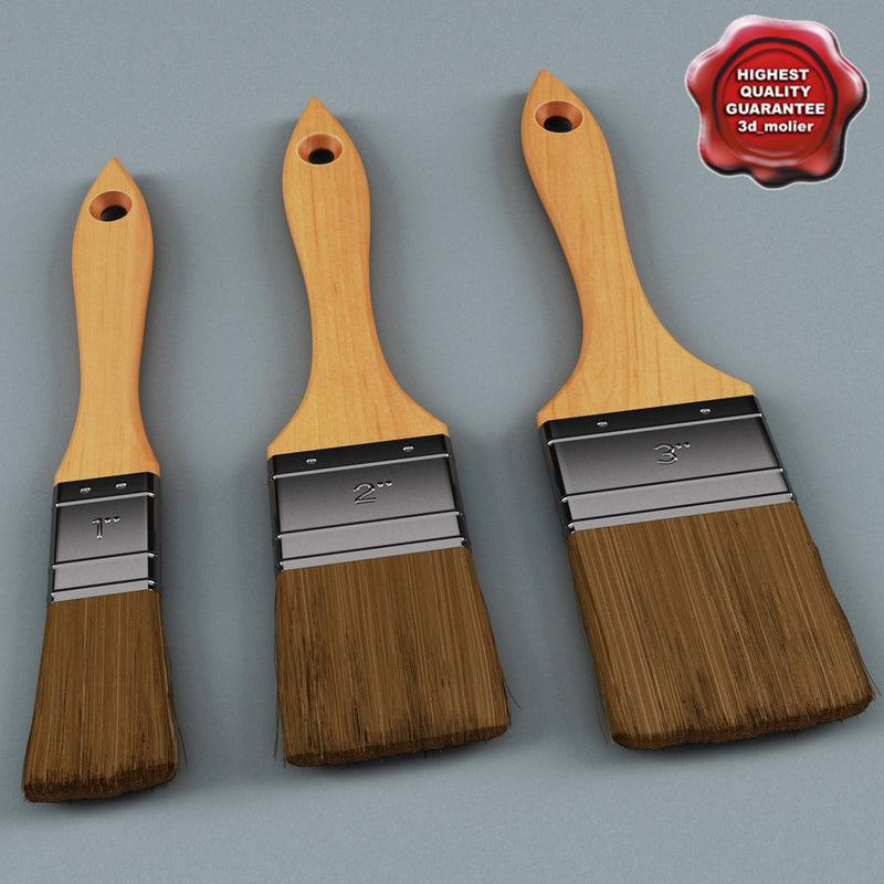 paint brushes 3d model