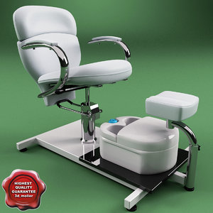 c4d pedicure chair v2