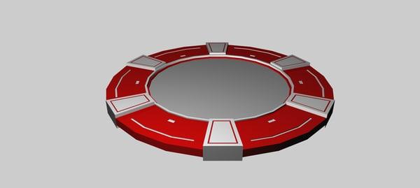 poker chip 3d 3ds