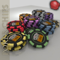 casino chips poker 3d max