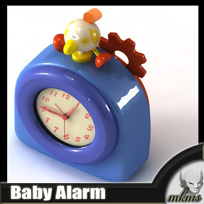 3d model baby alarm