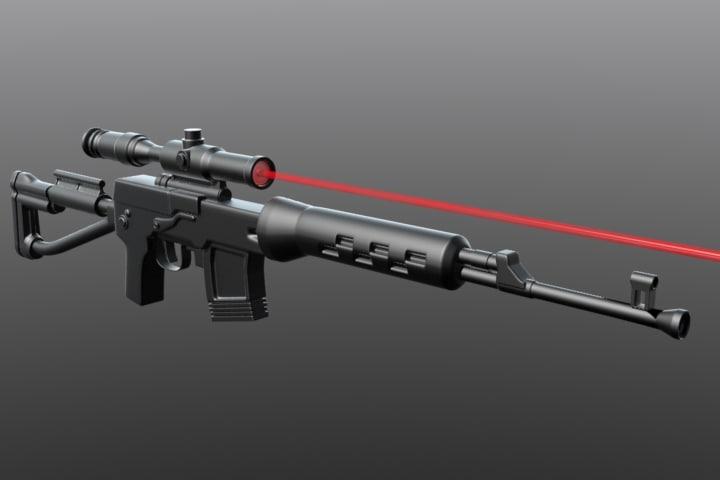 3d izhmash svds sniper rifle