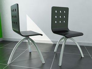 3d modern swivel chair model