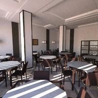 restaurant interior c4d