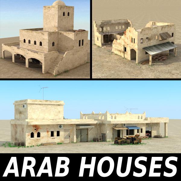 arab ruined houses buildings interior max