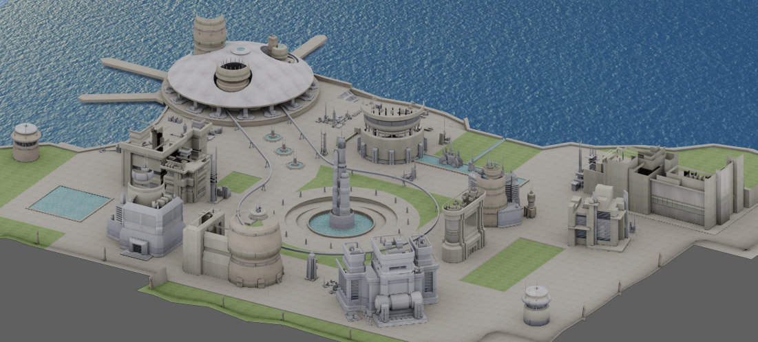 city sci-fi environment 3d model