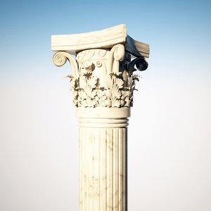 3dsmax corintian column