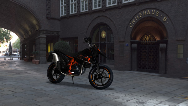 ktm 690 sm-r bike 3ds