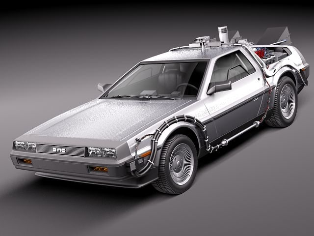 delorean dmc-12 sport future 3d 3ds