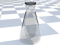 3d erlenmeyer flask model