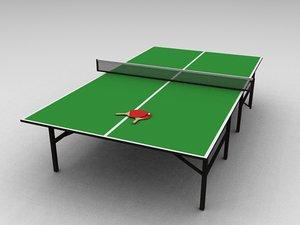 3d ping pong set model