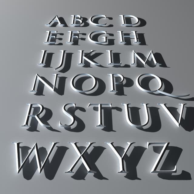 3d model capitalis monumentalis font
