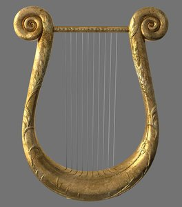 ancient lyra 3d obj