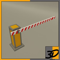 single security barrier 3d model
