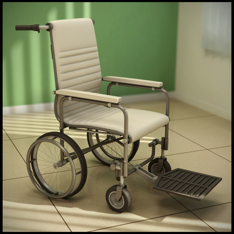 3d model manual wheelchair