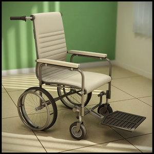3d model manual wheelchair