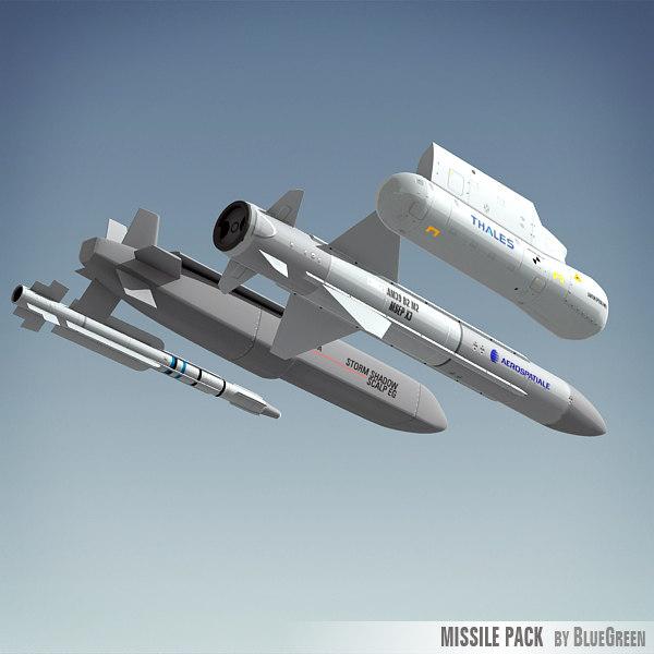 3d model of missile pack