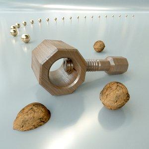 3d nutcracker nuts