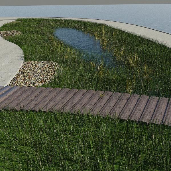 3d model pond - lake