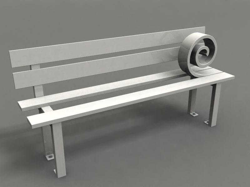 3d model of park chair strange