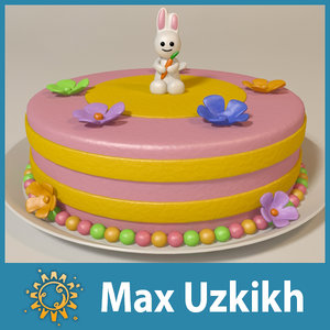 3dsmax cake rabbit